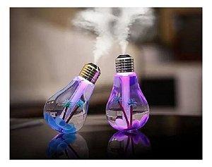 Humificador De Ar E Luminária Lâmpada Com Luz De Led Usb