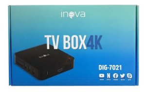 Conversor Digital Tv Box 4k Dig-7021 Inova (Cor Preto)