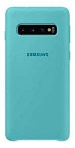 Case Capa Silicone Aveludada Samsung Galaxy S10 Plus Verde água