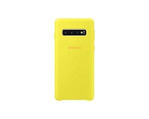 Case Capa Silicone Aveludada Samsung Galaxy S10 Plus (Cor Amarela)