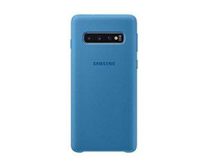 Case Capa Silicone Aveludada Samsung Galaxy S10 Plus Azul Claro