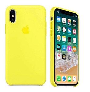 Capa Case Silicone Aveludada iPhone Xr (cor Amarela)
