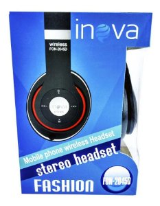 Fone De Ouvido Headset Bluetooth Inova Fon-2045d (cor Preto)