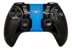 Controle Sem Fio Para Celular, Tv, Android e Pc Inova Con-7247 (Preto e Azul)