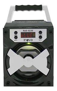 Caixinha De Som Bluetooth Alto-falante Portátil Inova RAD-8220 Cor (PRETO E BRANCO)