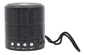 Mini Caixa De Som Portátil Alto Falante Bluetooth Inova RAD-B5312 (Cor Preta)