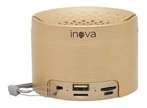 Caixinha De Som Portátil Sem Fio Bluetooth Inova RAD-B5324 (Dourada)