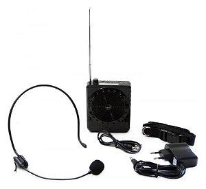 Amplificador de Voz Megaphone Speaker Multifunções (Preto)