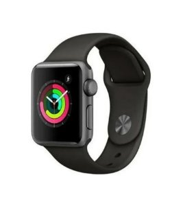 Pulseira Esportiva Caixa 38mm Apple Watch Series 1 2 3 Sport Silicone (Preto)