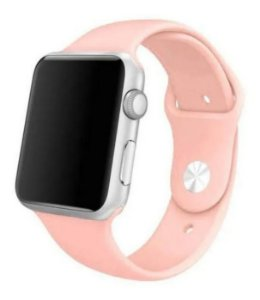 Pulseira Esportiva Caixa 38mm Apple Watch Series 1 2 3 Sport Silicone (Rosa-sand)