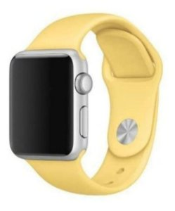 Pulseira Esportiva Caixa 38mm Apple Watch Series 1 2 3 Sport Silicone (Amarelo)