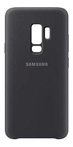 Capa Samsung Protetora Silicone Galaxy S9 Original Aveludada Preta