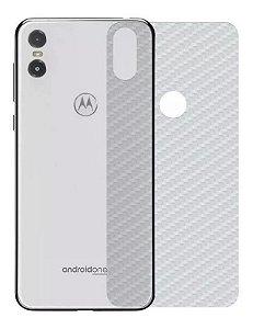 Película Protetora Traseira Fibra de Carbono Motorola One 5.9 Polegadas