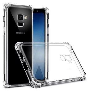 Capa Anti Shock com Bordas Samsung Galaxy A8 Plus Transparente