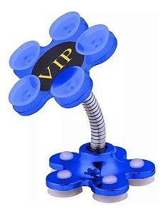 Suporte Para Celular De Mesa Com Ventosas 360 Graus (Cor Azul)