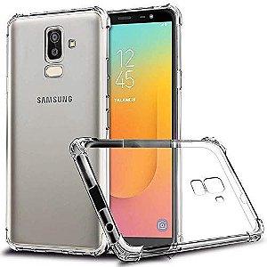 Capa Anti Shock Transparente + Pelicula de Vidro 3D Samsung Galaxy J8 2018