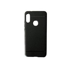 Capa Anti Queda Preta Flexível para Xiaomi Redmi S2 - Tela 5,99 Polegadas