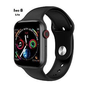 Relógio Smartwatch Inteligente Iwo8 Lite Preto 44mm + Película de Brinde