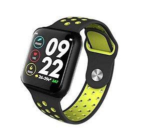 Smartwatch Inteligente F8 (Preto/Verde) + Película de Brinde