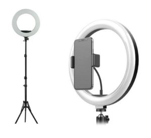 Iluminador de Led Ring Light 26cm 10 Polegadas + Tripé 2,1m Para Selfies