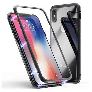 Capa Magnética Cor Preta Super Luxo Para iPhone XR