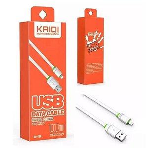 Cabo de Dados Lightning para iPhone Kaidi Kd-306 1m