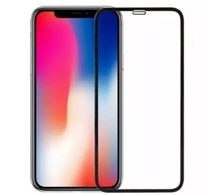 PELÍCULA DE VIDRO 3D PARA APPLE IPHONE X / XS BORDAS PRETAS