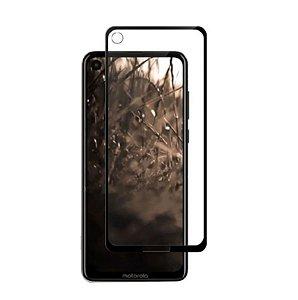 Película de Vidro 3D para Motorola One Vision Bordas Pretas