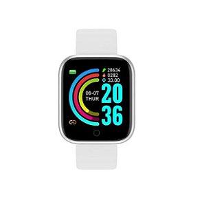 Relógio Smartwatch Inteligente D20 Prata Esportivo Compatível Android e IOS