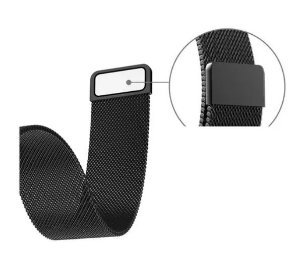 Pulseira Milanese Magnética Preta para Apple Watch 20 mm