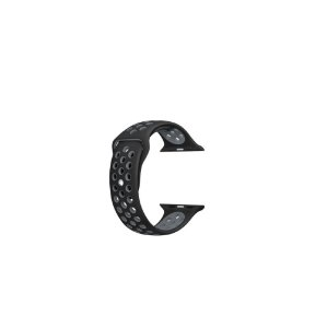Pulseira Apple Watch de Silicone Esportiva Preta com Cinza 38/40 MM