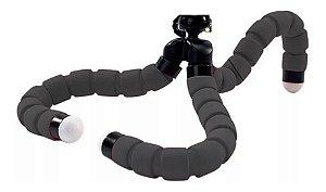 Tripé Flexível Articulado Suporte Celular Selfie Câmera Preto