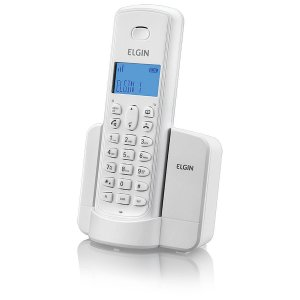 Telefone sem Fio Elgin com Identificador e Viva Voz TSF8001 BR - Branco