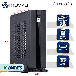 Mini Computador Lite Intel Dual Core J1800 2.41GHZ Memória 4GB Sem HD HDMI/VGA Fonte Externa 60W