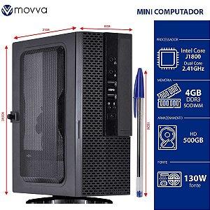 Mini Computador Lite Intel Dual Core J1800 2.41GHZ Memória 4GB HD 500GB HDMI/VGA FONTE 130W Linux - MVMLIJ18005004