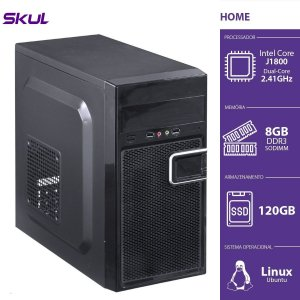 Computador Home H100 - Celeron Dual Core J1800 2.41GHZ 8GB DDR3 SODIMM SSD 120GB HDMI/VGA Fonte 200W