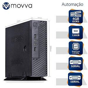 Mini Computador Lite Intel Dual Core J1800 2.41GHZ Mem. 4GB SSD 120GB 2x Serial Fonte Externa 60W Linux