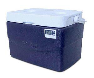 Caixa térmica 20 litros PU Termômetro Digital Max e Min