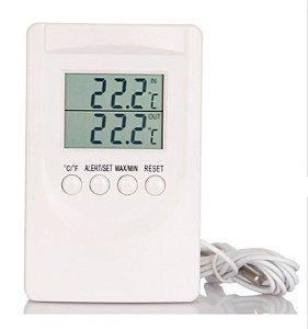 Termômetro Digital  Max Min Interno Externo Cabo 1,8 metros Alarm