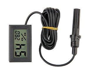Termohigrômetro digital cabo 1,5 metros