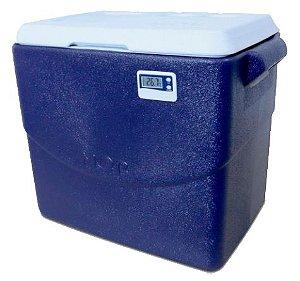 Caixa térmica 40 litros PU Termômetro Digital Max e Min