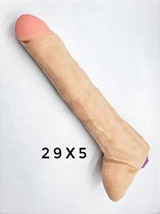 Vibrador Pênis em Cyberskin 29x5cm