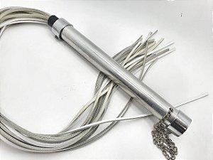 Flogger Alumínio Com Tiras Em Couro