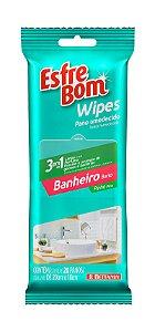 Pano Umedecido Wipes Banheiro Pack C/ 20 panos