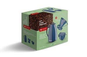 Kit Prático para Café Azul