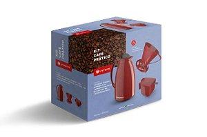 Kit Prático para Café Vermelho