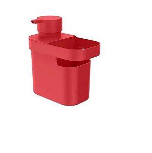 Dispenser para Detergente e Organizador de Pia Trium 650ml Vermelho