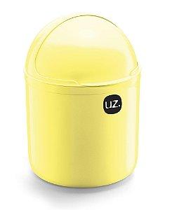 Lixeira Pia 4 Litros Amarelo Claro Sólido