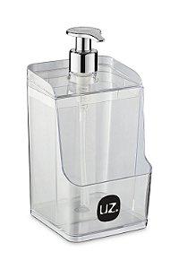 Dispenser Slim C/ Suporte para Esponja Transparente