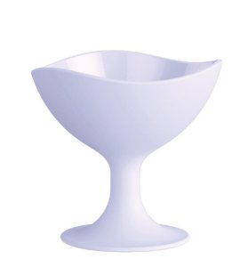 Taça para Sorvete 300ml Branco Sólido